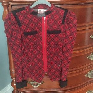 Juicy Couture Tartan Plaid Jacket